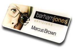 Standard plastic name badges - No border and white background | www.namebadgesinternational.ae